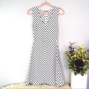 Banana Republic striped illusion skater dress